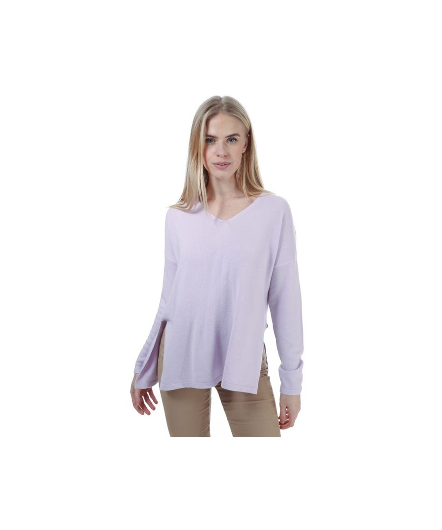 Image for Women's Only Amalia V-Neck Jumper in Lilac