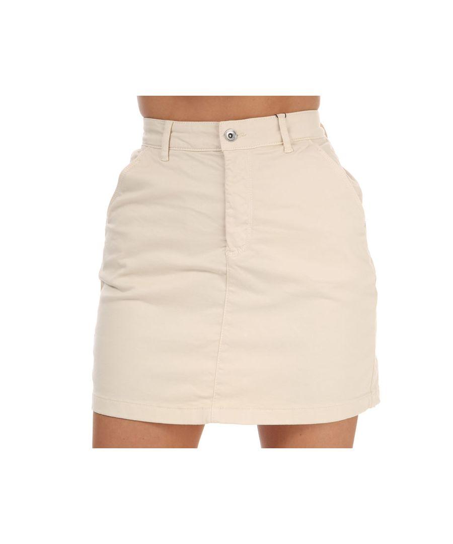 Image for Women's Jacqueline de Yong Dakota Life Chino Skirt in Ecru