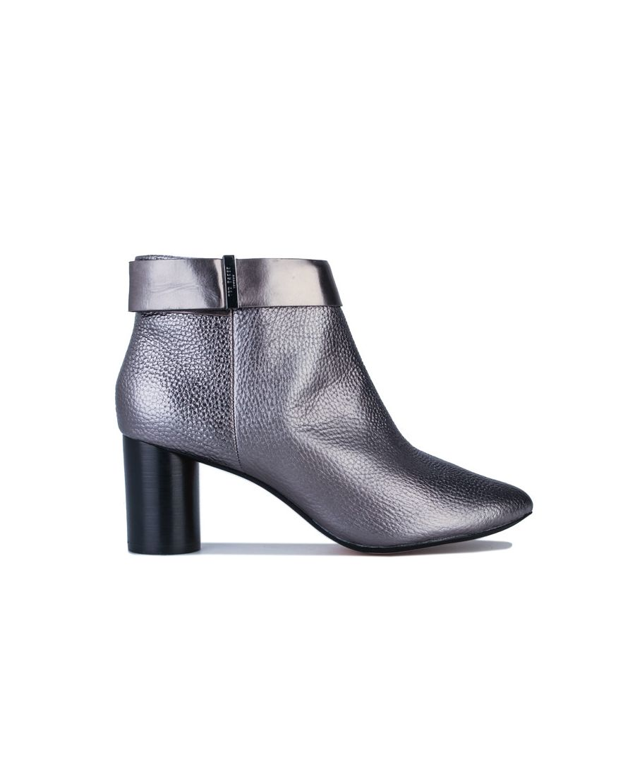Image for Women's Ted Baker Mharial Circular Heel Ankle Boots in Gunmetal