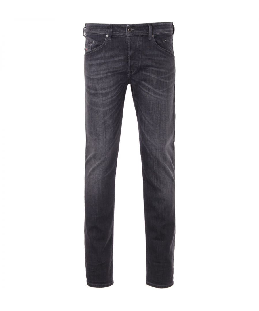 Image for Diesel Belther-R Tapered Fit Jeans - Black Grey