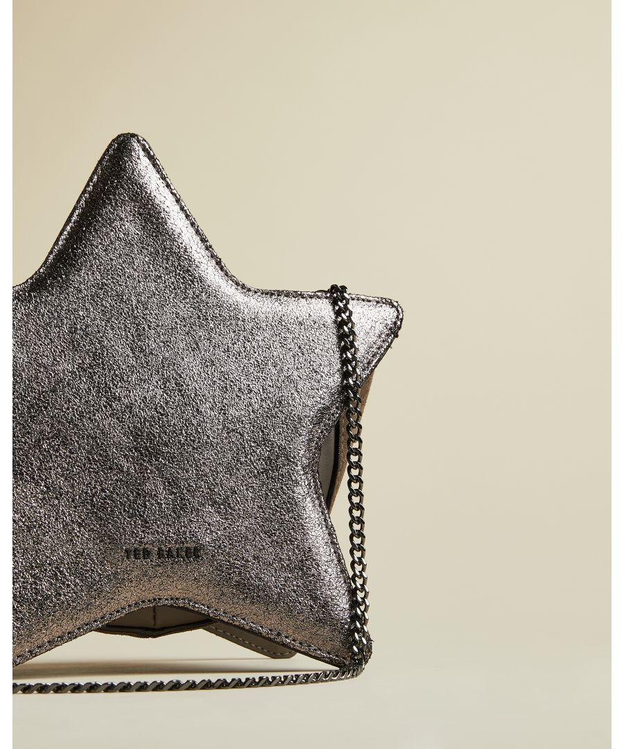 Image for Ted Baker Starry Star Leather Bag, Gunmetal