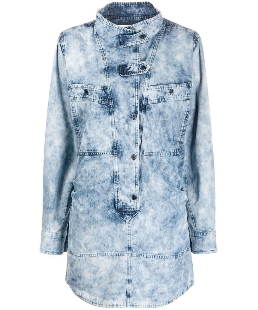 Image for ISABEL MARANT ÉTOILE WOMEN'S RO162920P022E30LU LIGHT BLUE COTTON DRESS