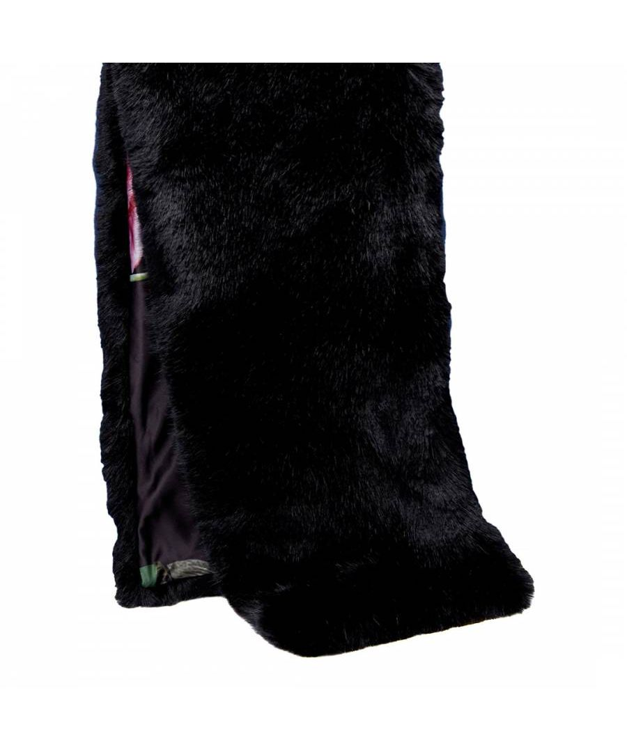 Image for Ted Baker Una Faux Fur Long Scarf, Black