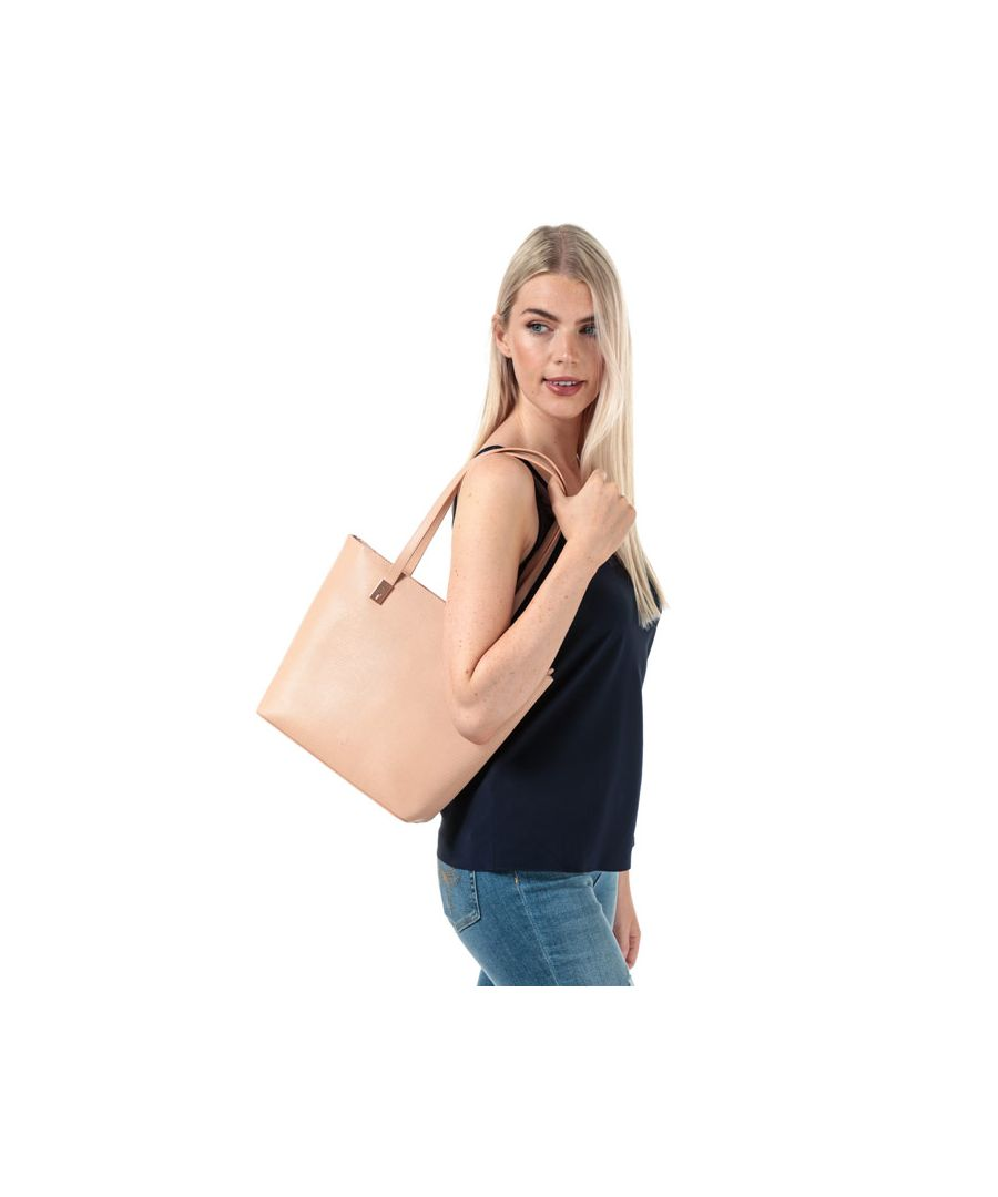 Image for Accessories Ted Baker Delma Leather Zip Shopper Bag in Taupe