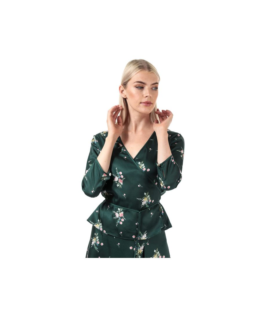 Image for Women's Ted Baker Aleexx Flourish Wrap Top in Green