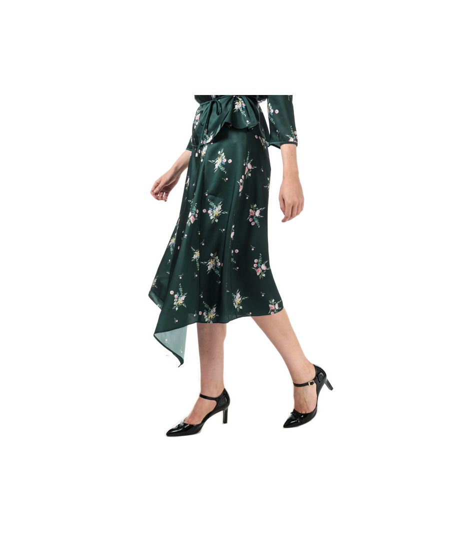 Image for Women's Ted Baker Anabell Asymmetric Midi Skirt in Green