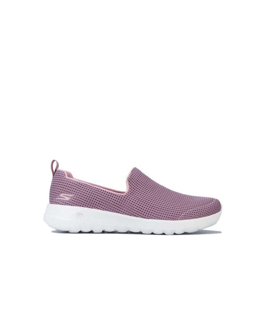 Image for Women's Skechers GO Walk Joy Centerpiece Shoes in Dusky Pink