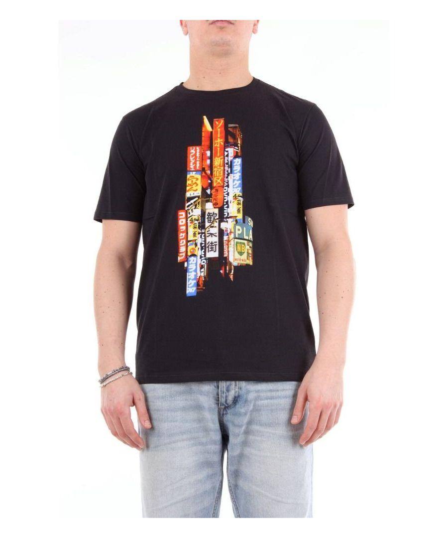 Image for NEIL BARRETT MEN'S BJT611SM558SNERO BLACK COTTON T-SHIRT