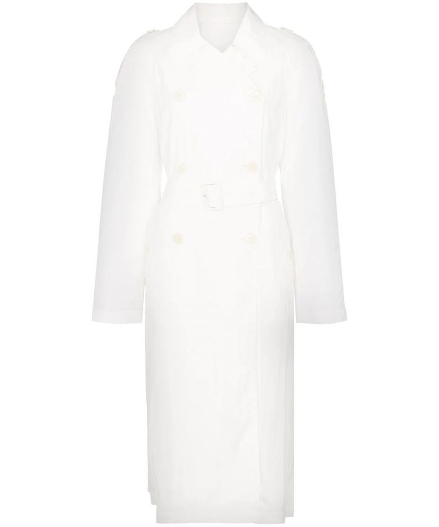 Image for HELMUT LANG WOMEN'S J01HW401100 WHITE VISCOSE TRENCH COAT