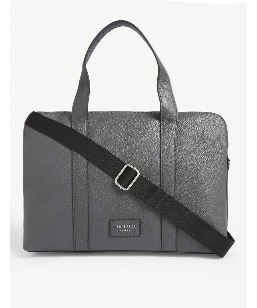 Image for Ted Baker Infern Leather Document Bag, Grey