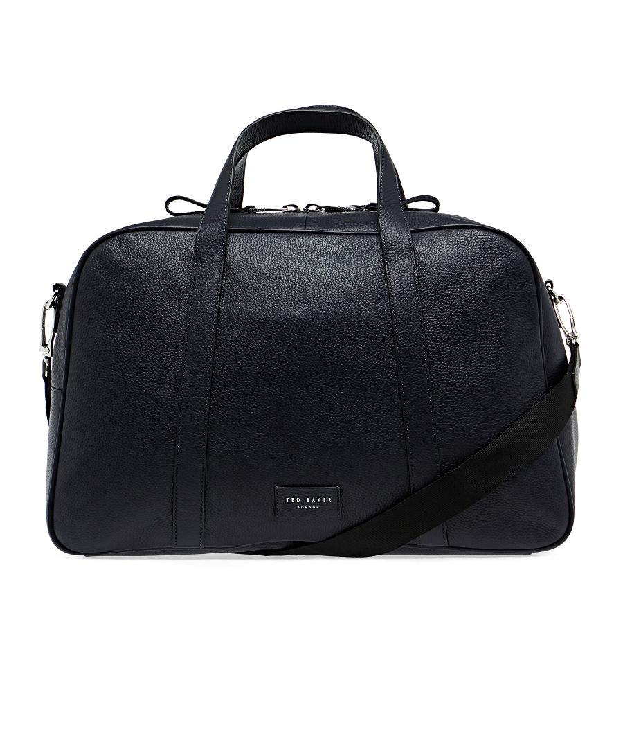 Image for Ted Baker Traves Leather Holdall, Black
