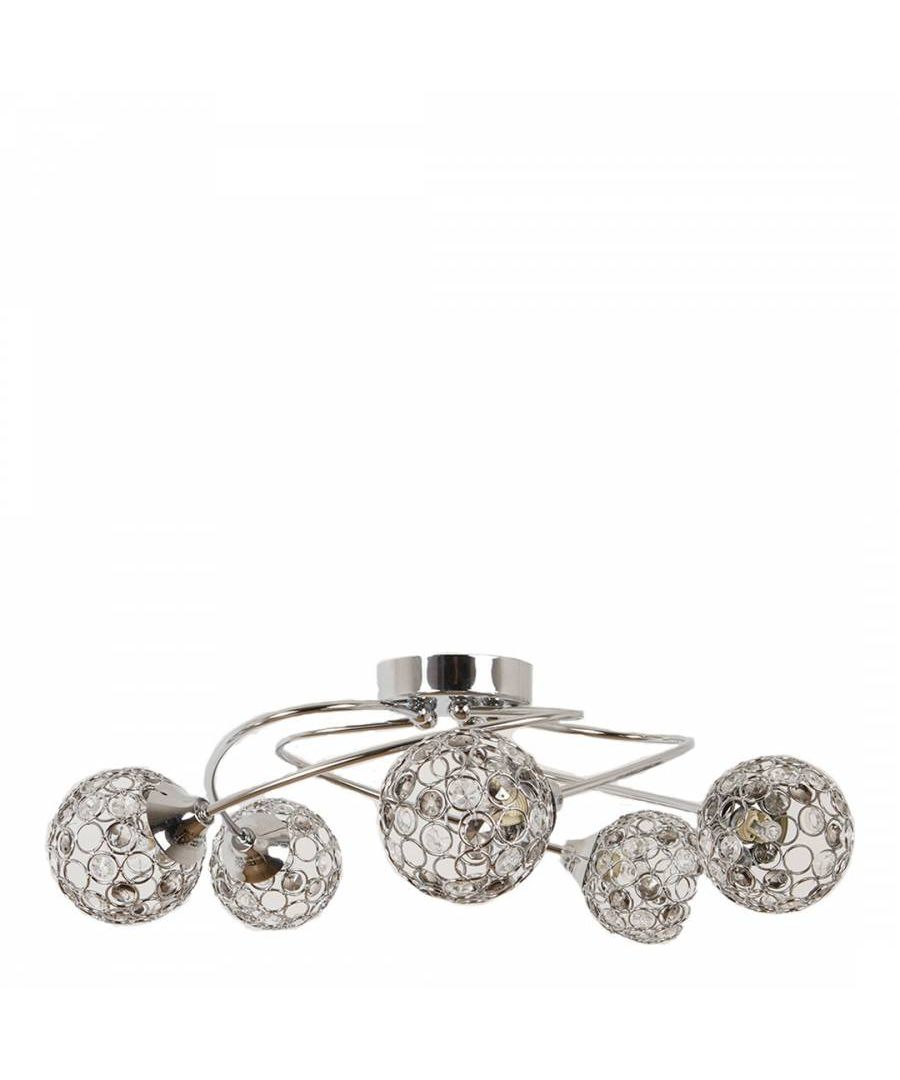 Image for Bryn 5 Light Ceiling Light Polished Chrome