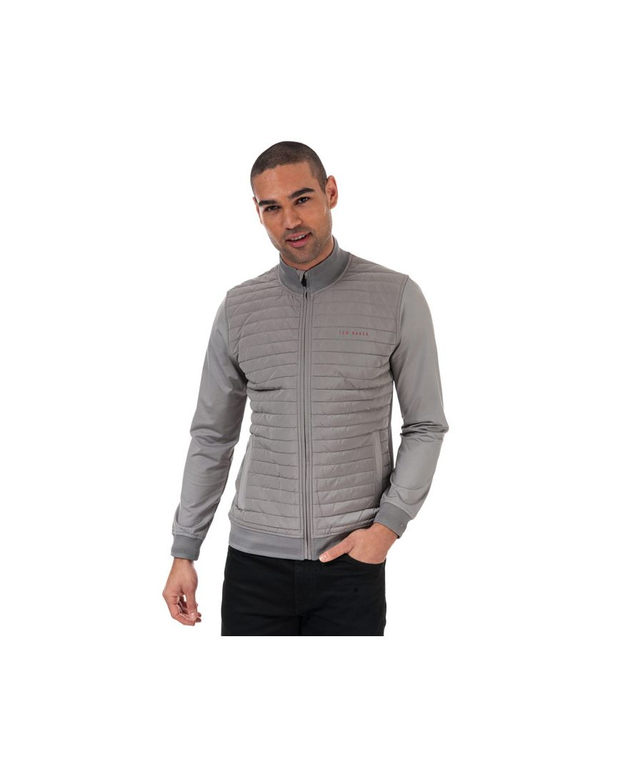 Image for Men's Ted Baker Player Quilted Thermal Jacket in Grey