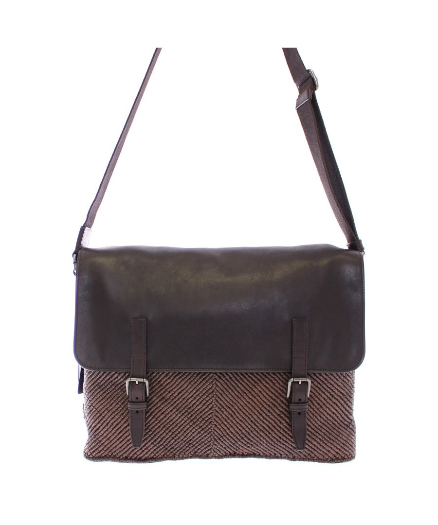 Image for Dolce & Gabbana Brown leather messenger bag