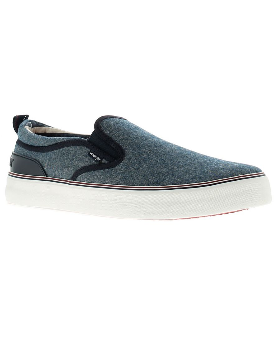 Image for Wrangler Epic Board Mens Canvas Shoes Pumps Trainers Chambray