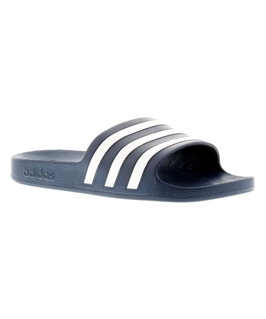 Image for Adidas Originals Adilette Aqua Mens Flip Flops Beach Sandals Navy