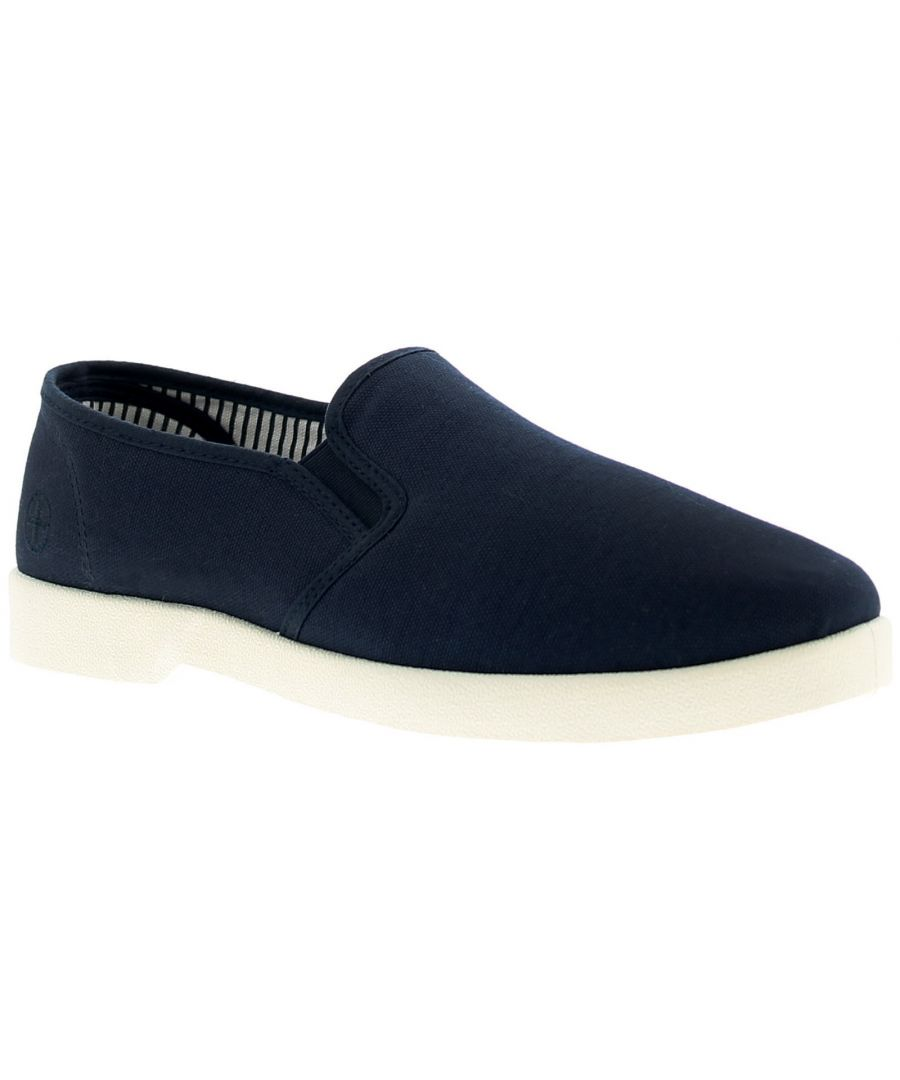 Image for Dr Keller Yacht Mens Canvas Shoes Pumps Trainers Navy