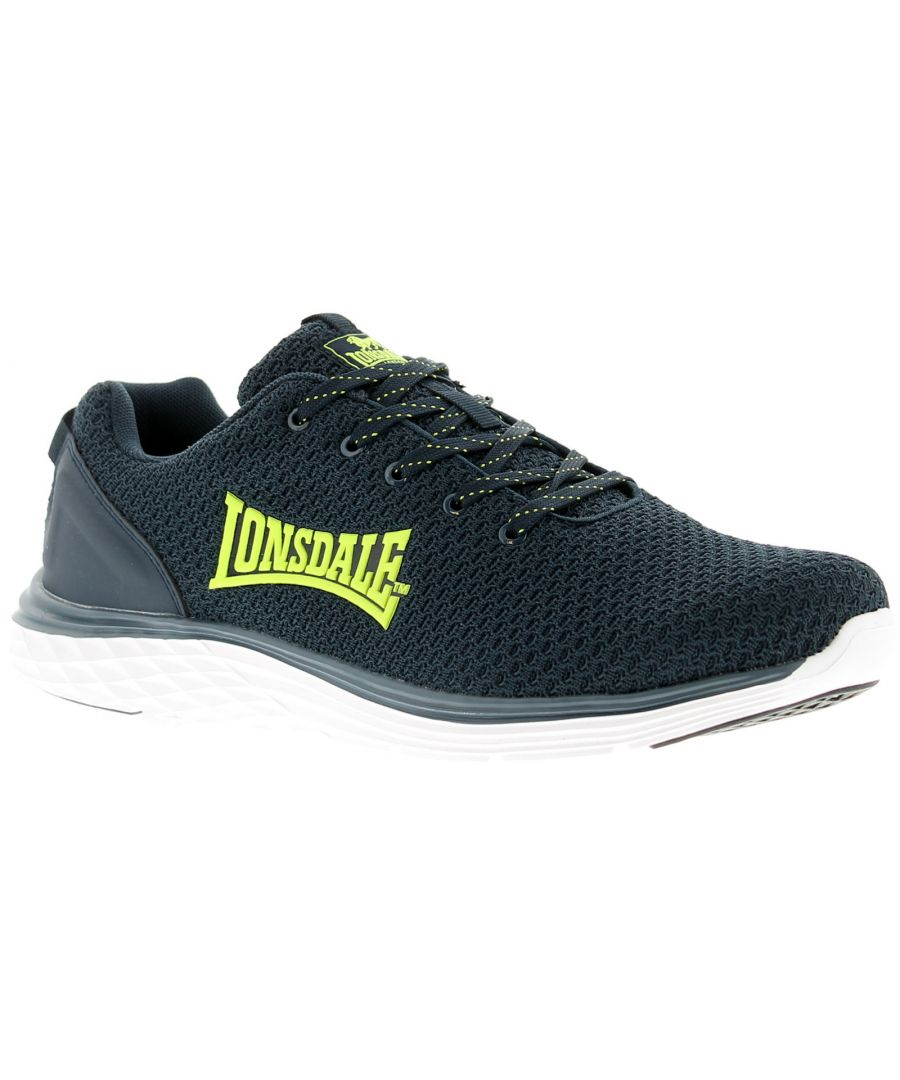 Image for Mens Lace Up Lightweight Running Trainer With Textile Upper Large Sidewall Logo Phylon Sole Unit