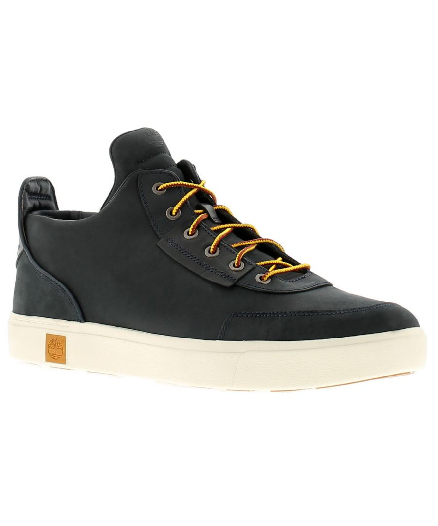 Image for Timberland amherst leather mens hi tops trainers navy