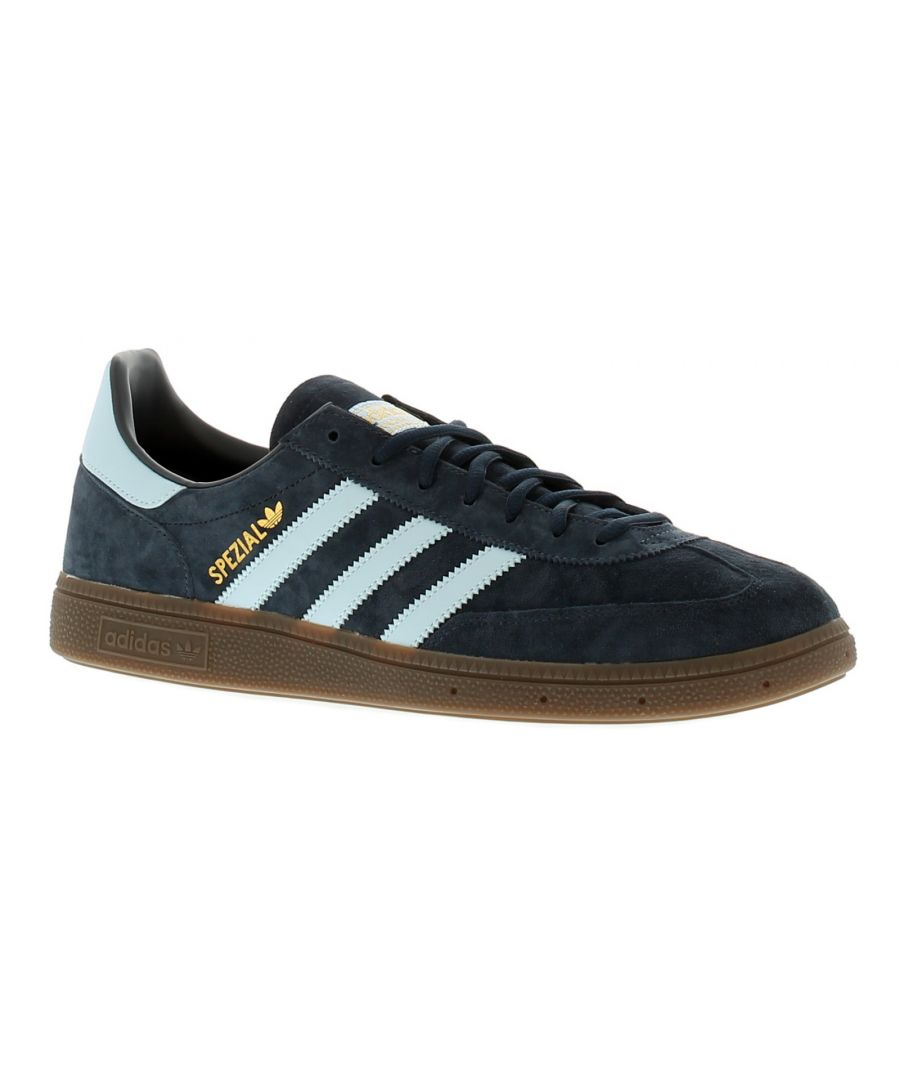 Image for Mens Adidas Handball Spezial  Leather Upper Trainers Seven Eyelet Lace Fastening Classic 3 Stripe De