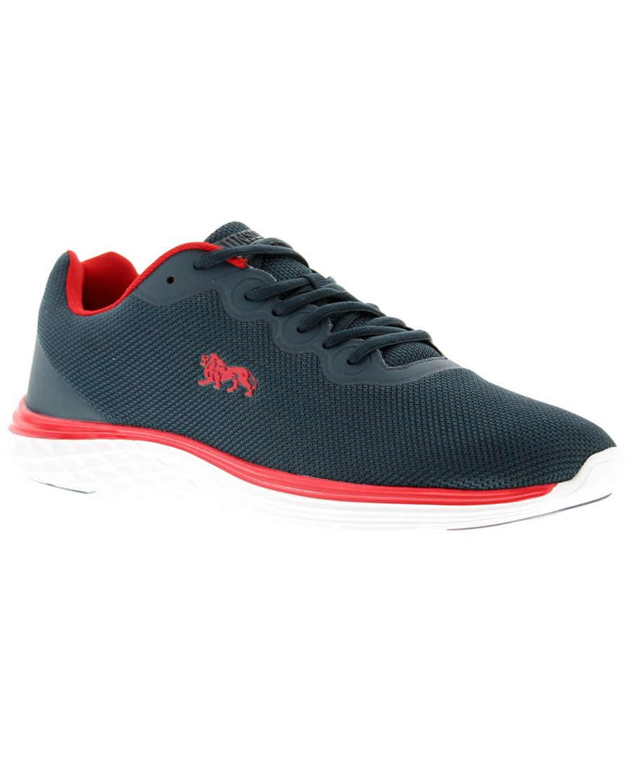 Image for Mens Lonsdale Stamford Lace Up Trainers Mesh Upper Phylon Sole