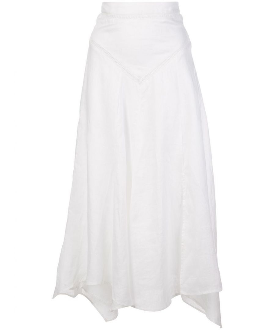 Image for ISABEL MARANT ÉTOILE WOMEN'S JU111920P025E20WH WHITE LINEN SKIRT
