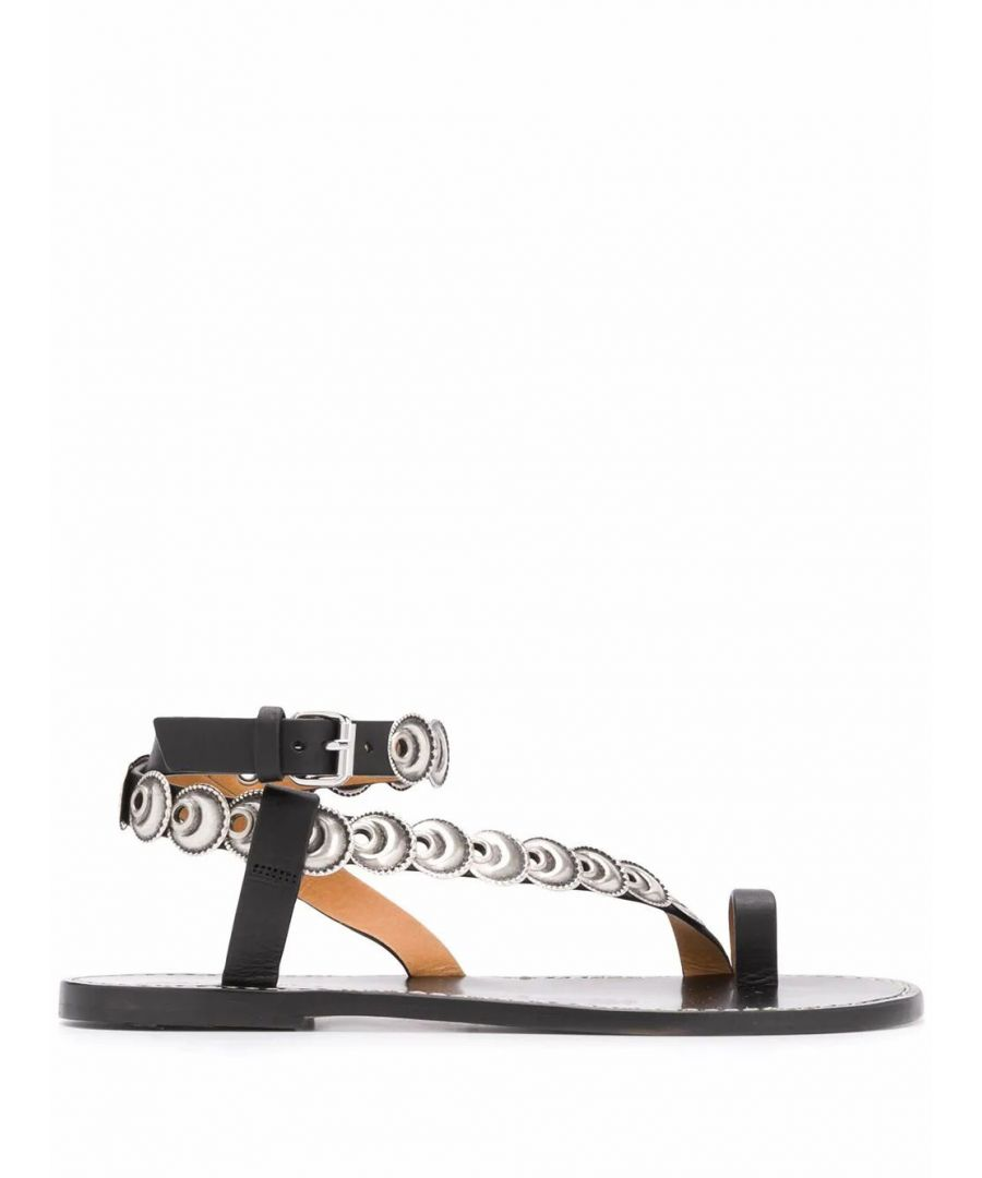 Image for ISABEL MARANT WOMEN'S SD049920P015S01BK BLACK LEATHER SANDALS