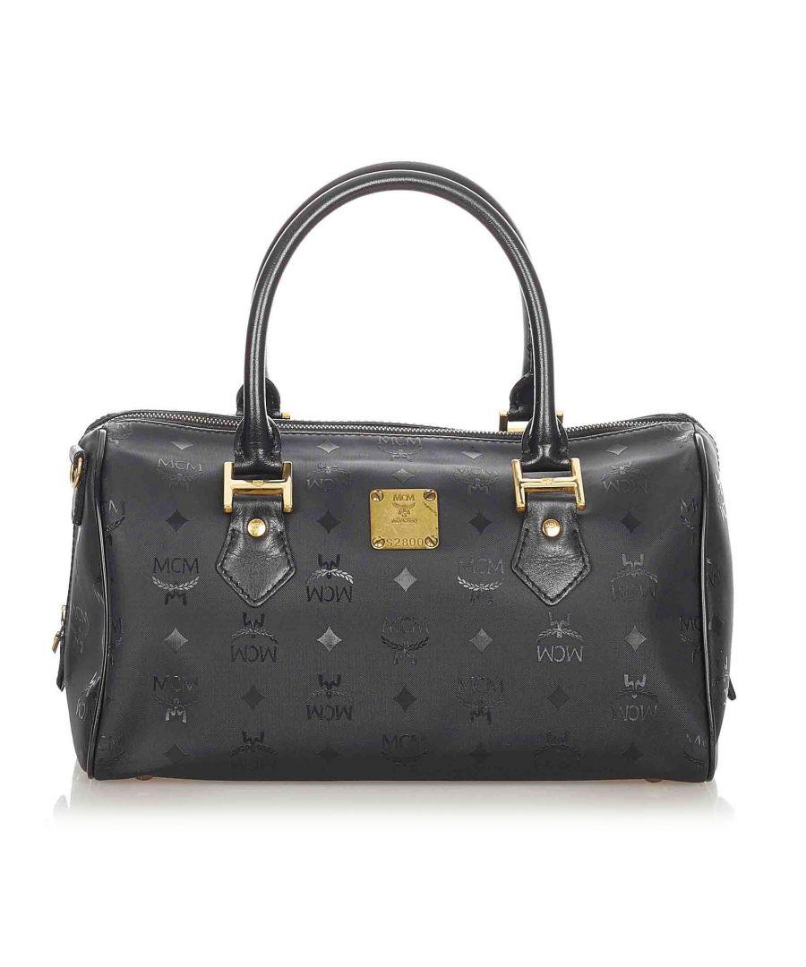 Image for Vintage MCM Visetos Nylon Boston Bag Black