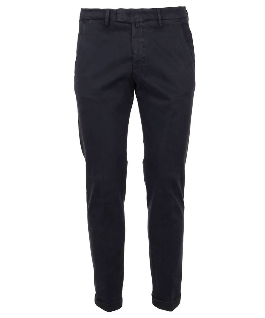 Image for BRIGLIA 1949 MEN'S BG03490811 BLUE WOOL PANTS