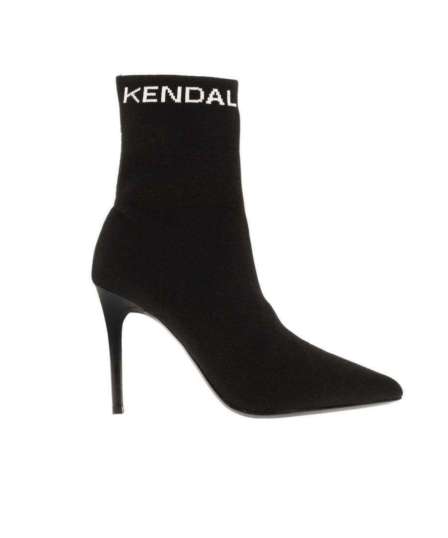 Image for KENDALL + KYLIE WOMEN'S KKMIRANDA01 BLACK FABRIC ANKLE BOOTS