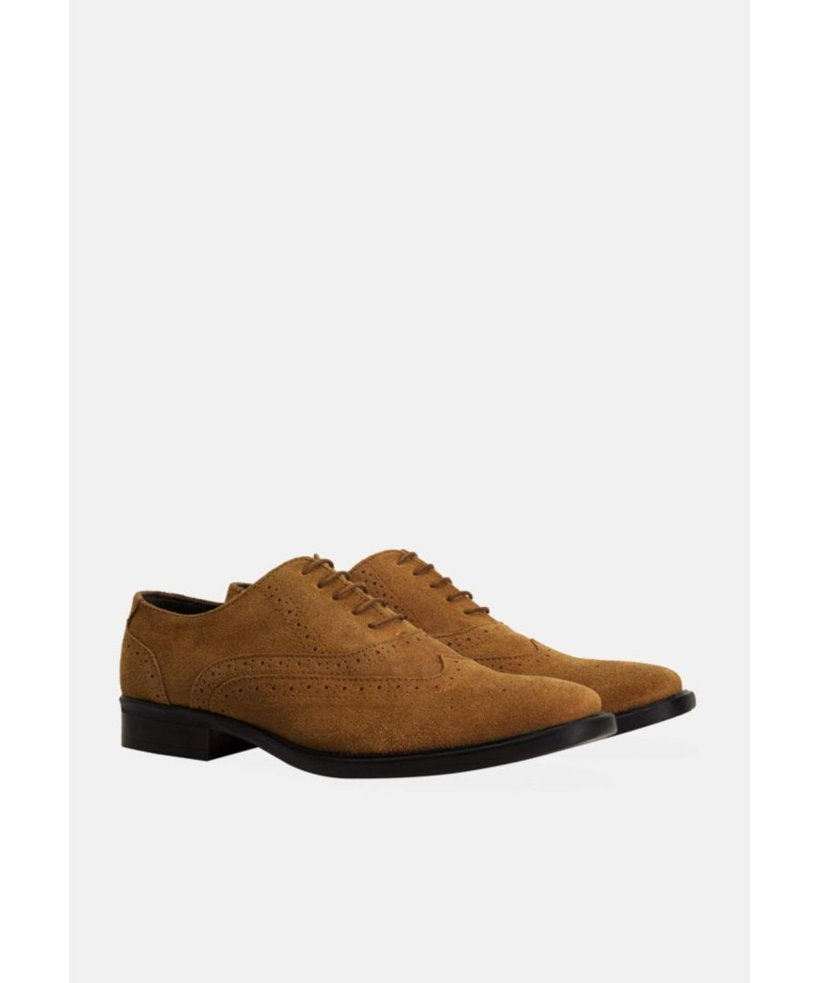 Image for Redfoot Porter Tan Suede Brogue