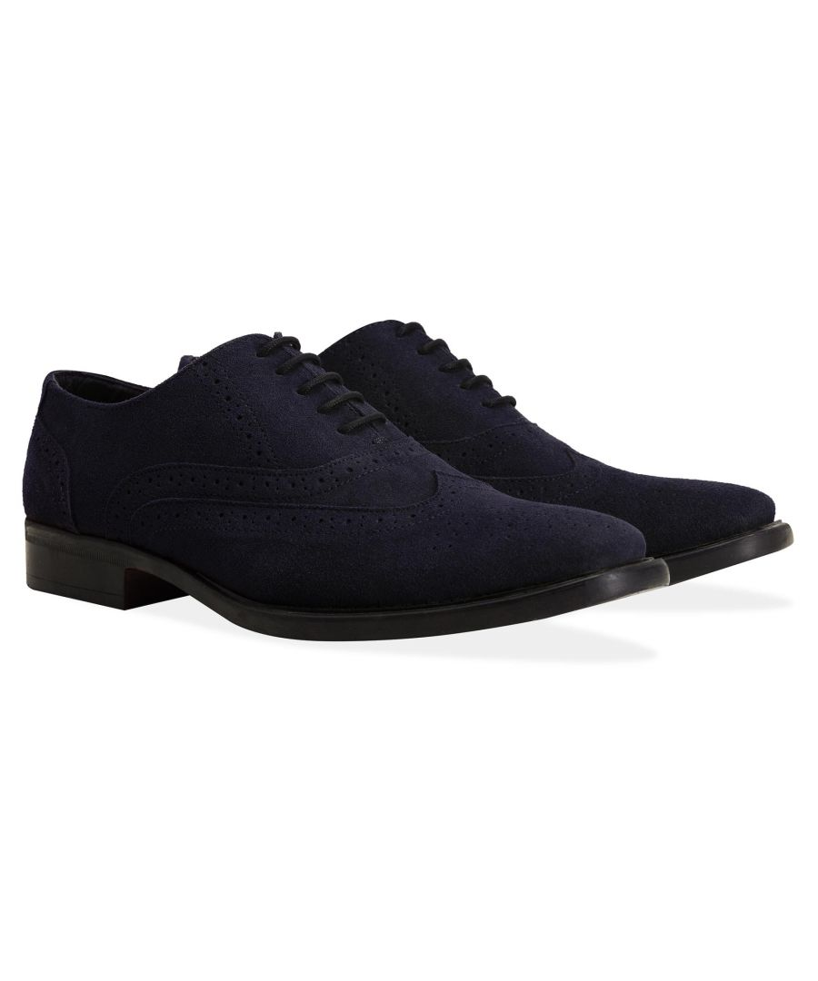 Image for Redfoot Porter Navy Suede Brogue