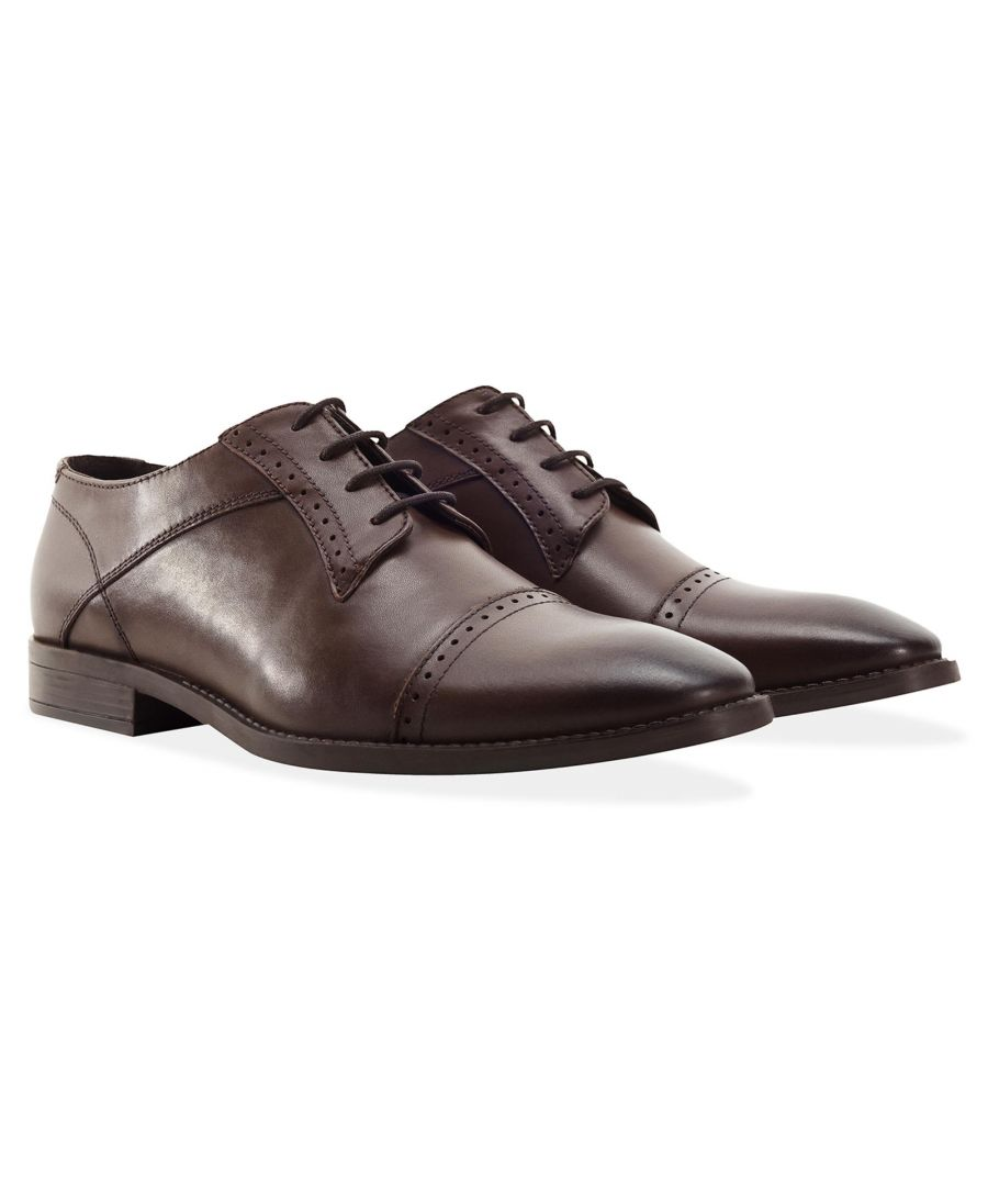 Image for Redfoot Raymond Brown Leather Derby Brogue