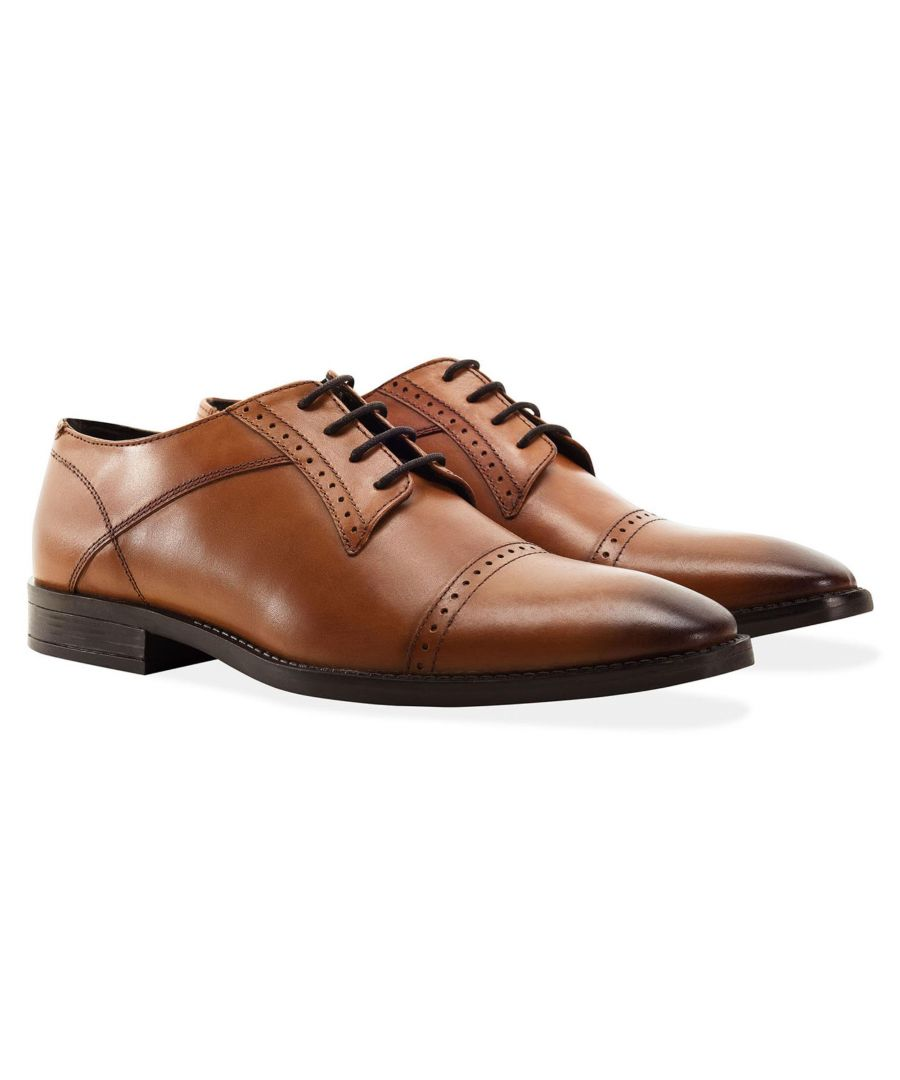 Image for Redfoot Raymond Tan Leather Derby Brogue