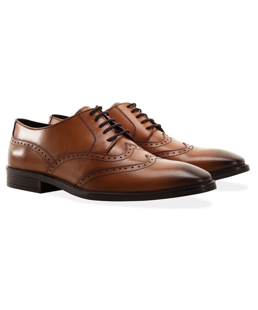 Image for Redfoot Arthur Tan Leather Derby Shoe