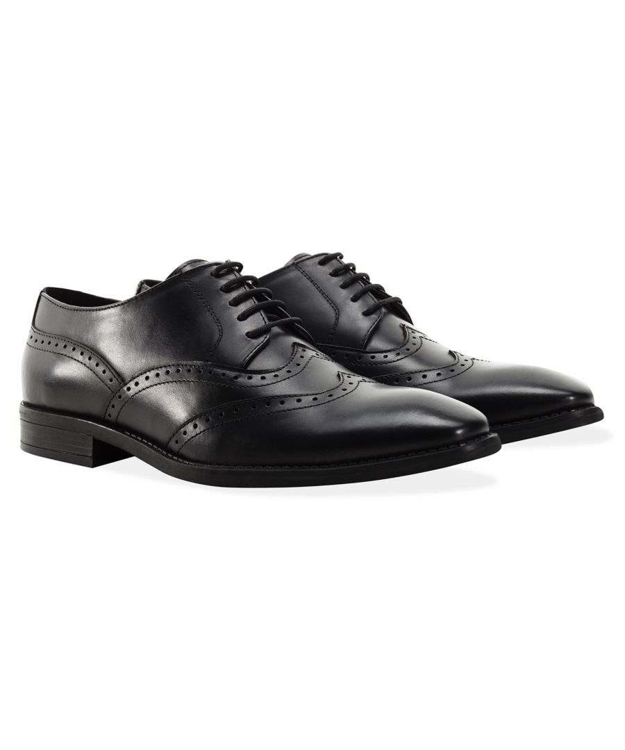 Image for Redfoot Arthur Black Leather Derby Shoe