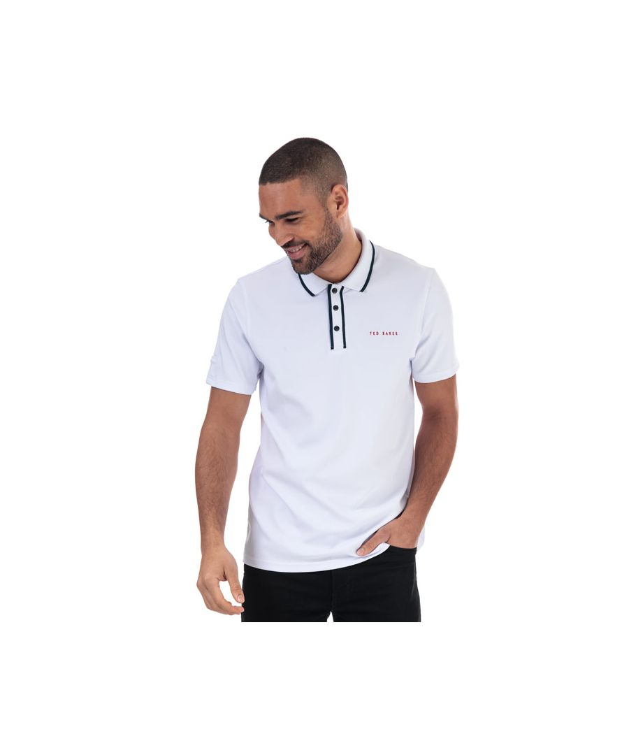 Image for Men's Ted Baker Bunka Polo Shirt in White