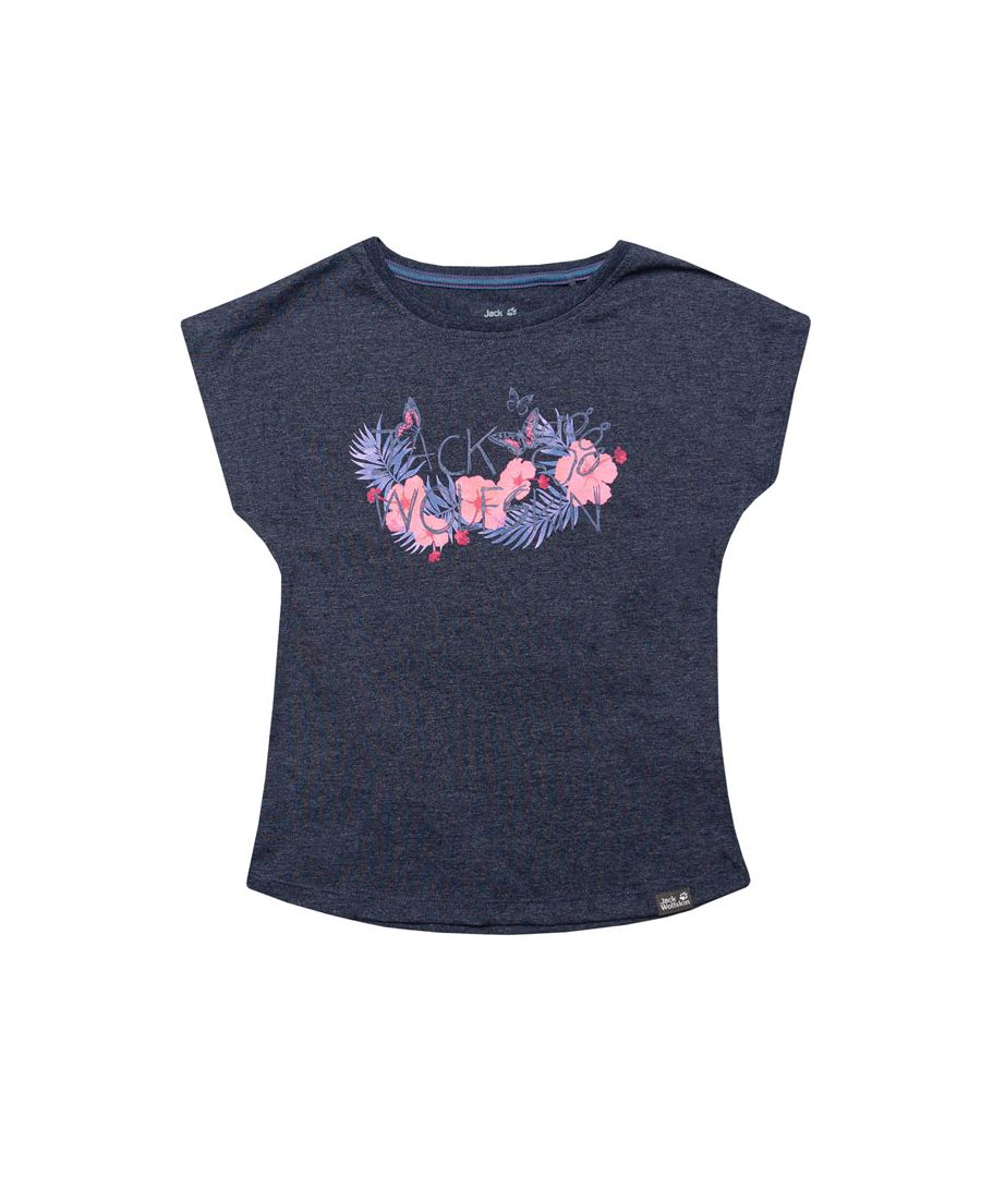 Image for Girl's Jack Wolfskin Infant Brand T-Shirt in Blue