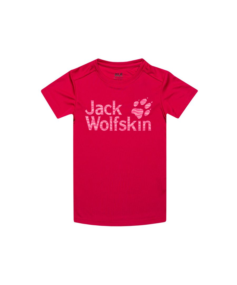 Image for Girl's Jack Wolfskin Junior Jungle T-Shirt in Red