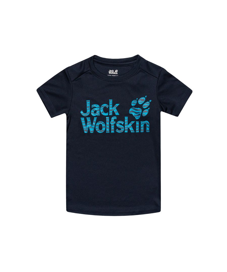 Image for Girl's Jack Wolfskin Infant Jungle T-Shirt in Blue
