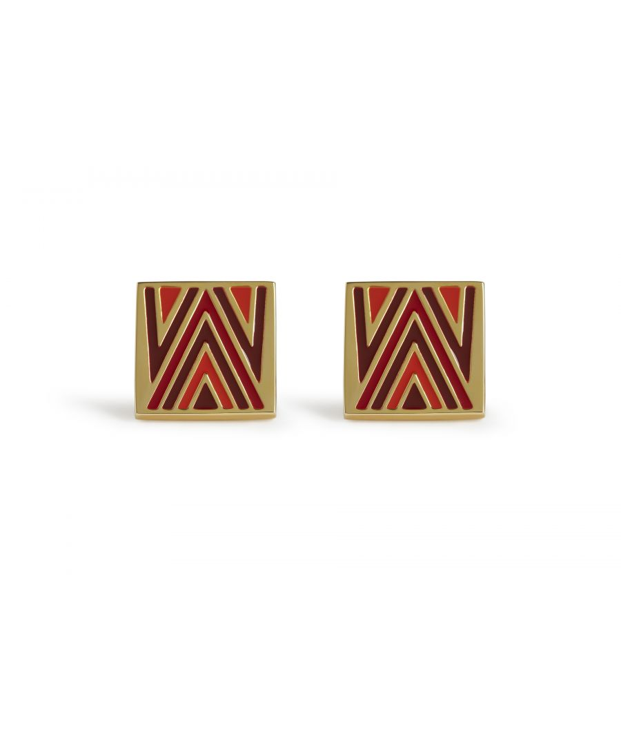 Image for 70's Chevron Red Cufflinks