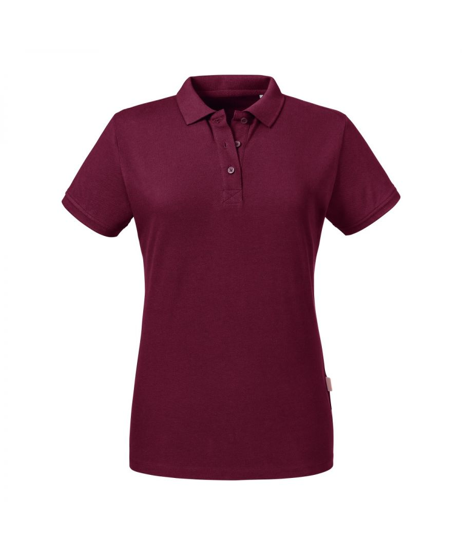 Image for Russell Women's Pure Organic Polo (Burgundy)