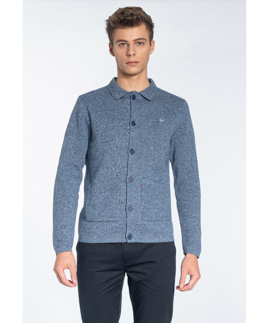 Image for ROTHWELL, Men's Milano Knited Jacket in Navy Marl