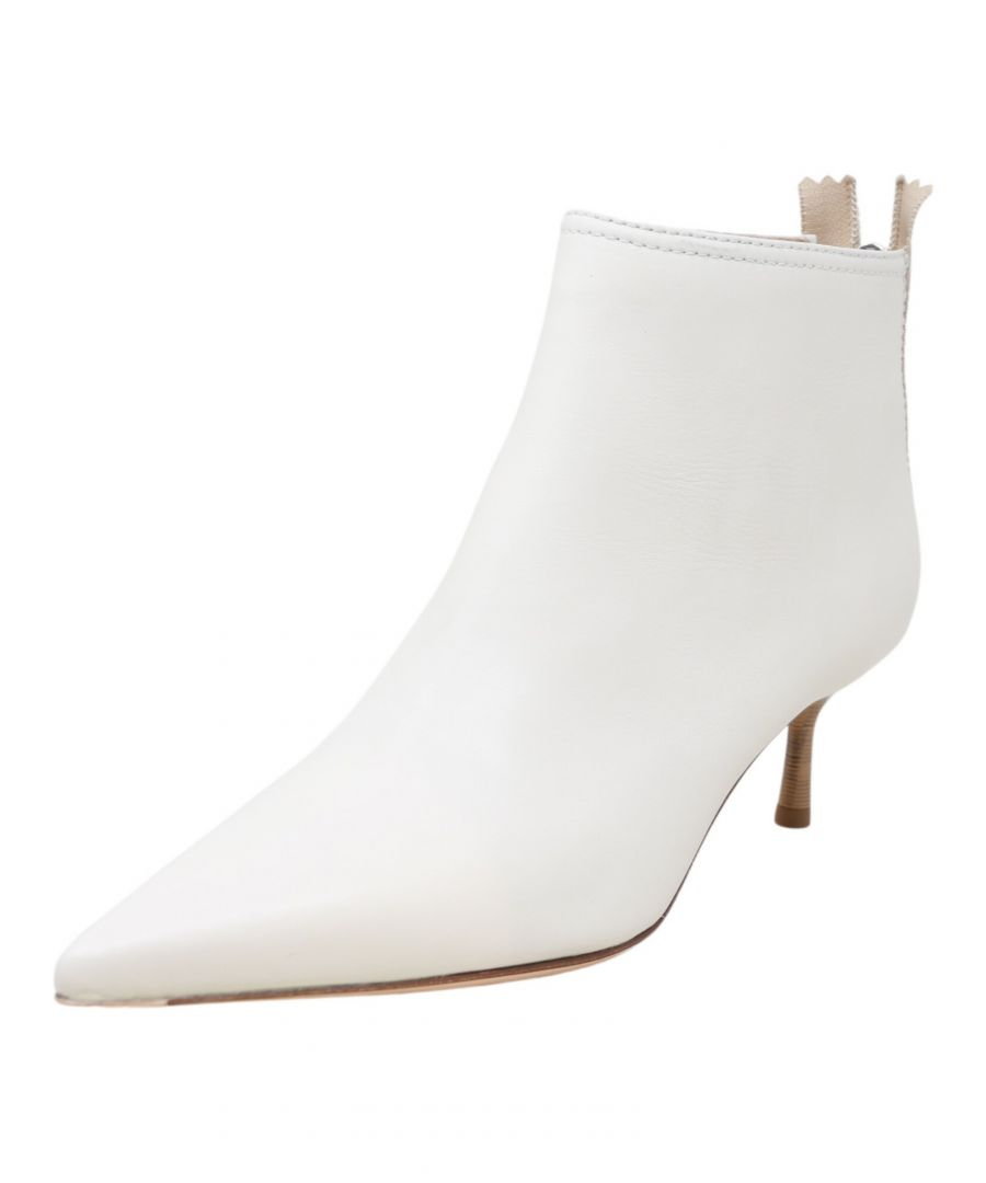 Image for Agl Women's Ankle High Pump Offwhite Ankle-High Leather - 6 M