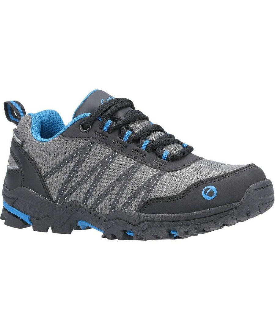Image for Cotswold Childrens/Kids Little Dean Lace Up Hiking Waterproof Trainer (Blue/Grey)