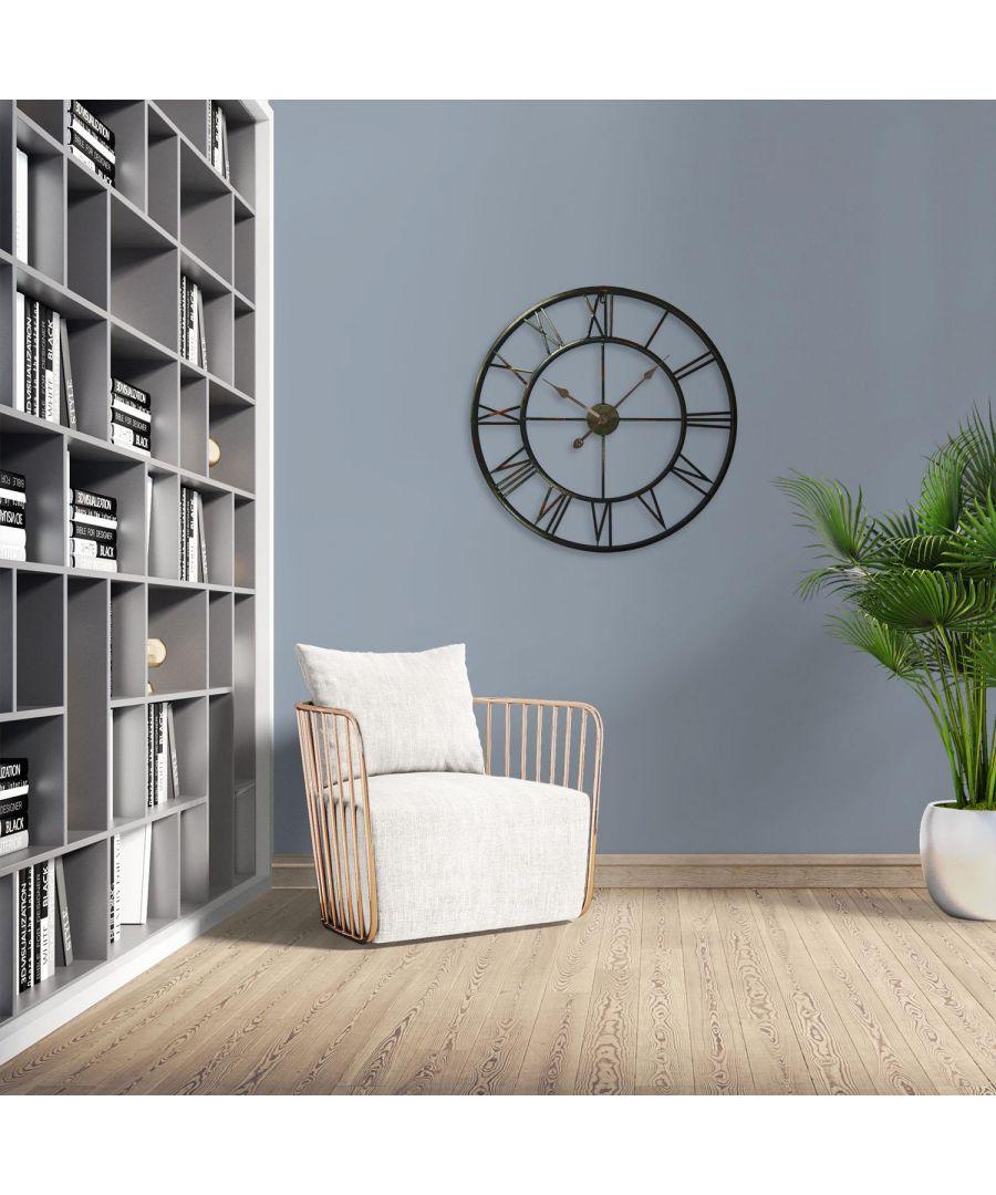 Image for Roman No. Iron Wall Clock 76x76x5cm wall clock, wall clock vintage 76 cm x 76 cm x 5 cm 1 piece