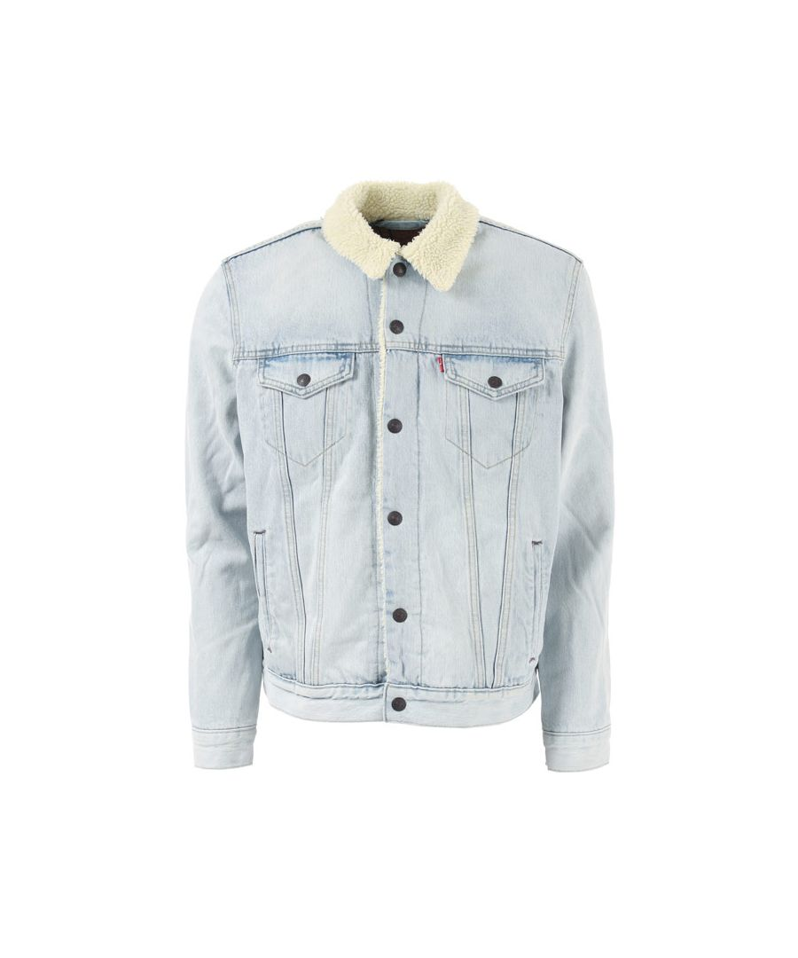 Image for Men's Levis Type 3 Sherpa Jacket in Denim