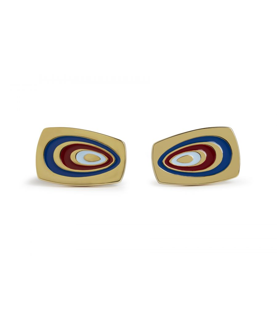 Image for 70's Swirl Red Cufflinks