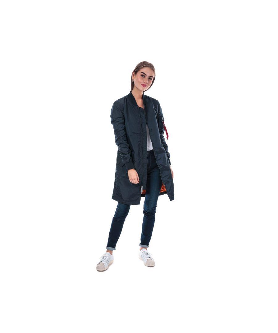 Image for Women's Alpha Industries MA1 TT Coat in Dark Blue