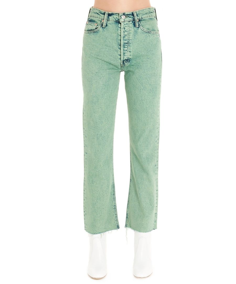 Image for MOTHER WOMEN'S 1896259FER GREEN COTTON JEANS